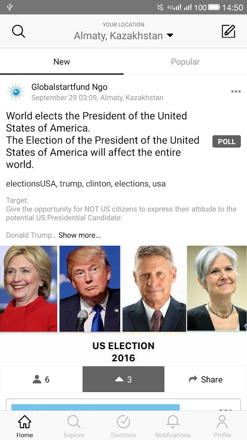 WeVote- screenshot