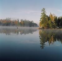Canadiana Canoe in Mist.JPG