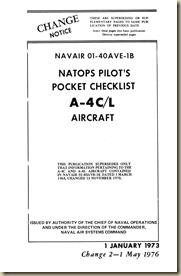 Douglas A-4C_L Skyhawk Pilot's Pocket Checklist_01