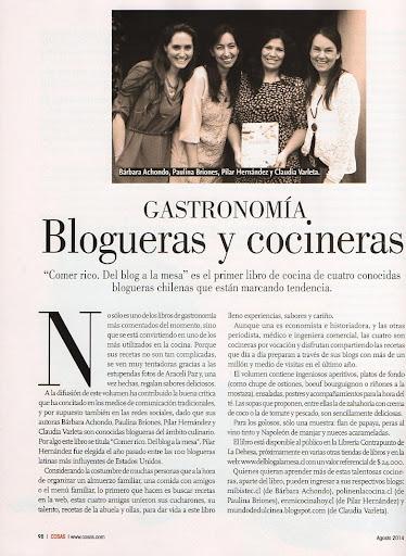 En Revista Cosas 2014