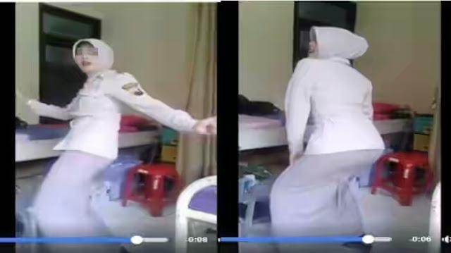 """Heboh! Video Hot Goyangan """"Bokong Semok"""" Pegawai Kepolisian Berhijab"""
