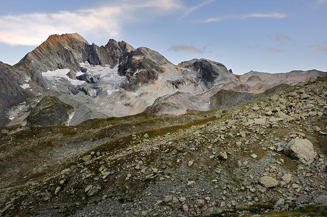 Traversée des Alpes, du lac Léman à la Méditerranée Gr5-mont-blanc-briancon-peclet-polset-coucher-soleil-2