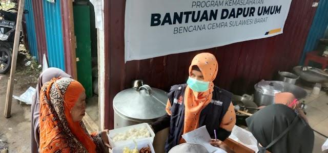 Lazismu Sulbar Terima Bantuan Dari BPKH Untuk Dapur Umum Korban Gempa