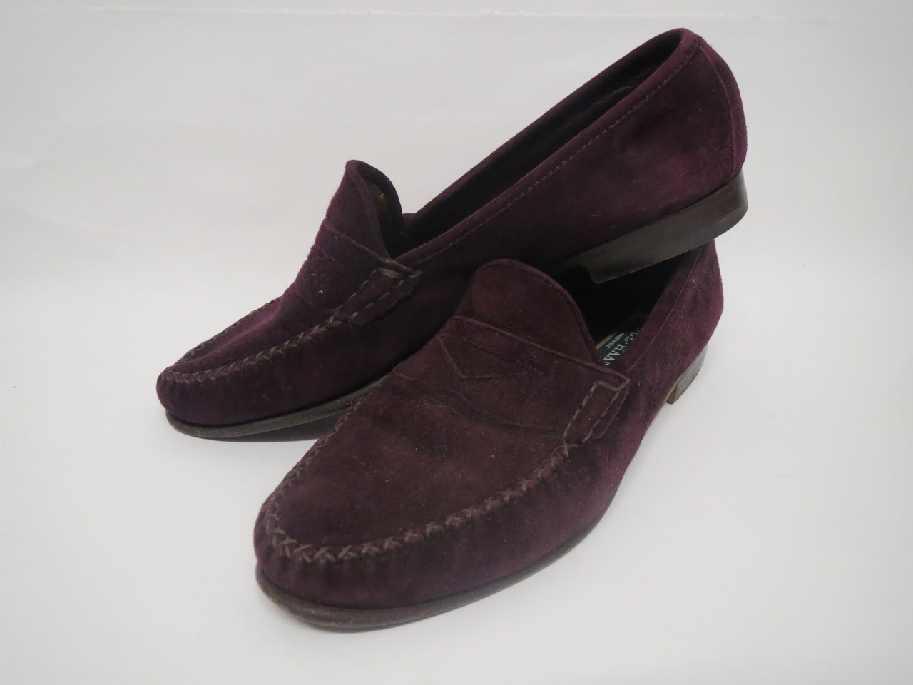 Vintage Cole Haan Burgundy Penny Loafers