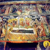 12. Dormition of the Holy Virgin. Byzantium fresco. XIV Century. The Monastery St. Gabriel of Lesnovo and St. Archangel Michail