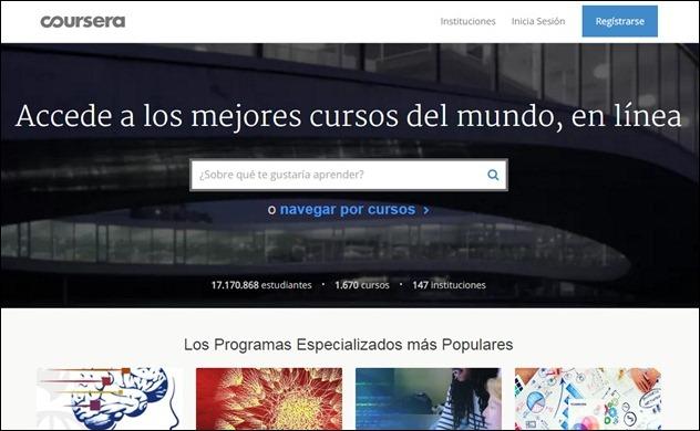 Abrir mi cuenta Coursera