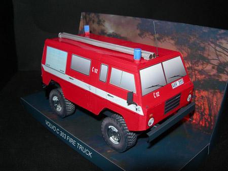 Volvo C303 Papercraft Fire Pump Truck