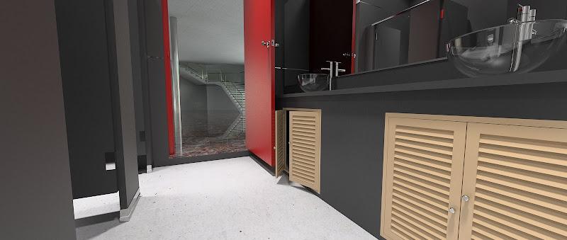 ห้องน้ำคับๆ กับการเรนเดอร์แบบบ้านๆ ของ Art Gallery ที่พัทยา Restroom02