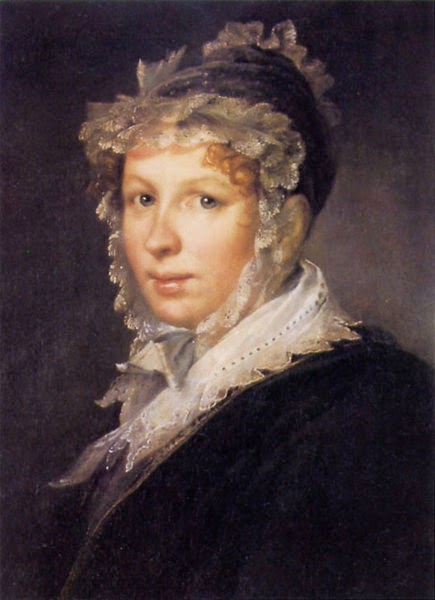 Vasily Tropinin - Portrait of A. I. Tropinina, the Artist`s Wife, 1809