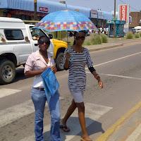 umbrellas in Mochudi