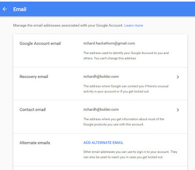 Problem adding alternative email for replying to calendar invitation recently i went to mygoogleaccount personal info email as shown in second image note that my recovery and contact email addresses are correct stopboris Images