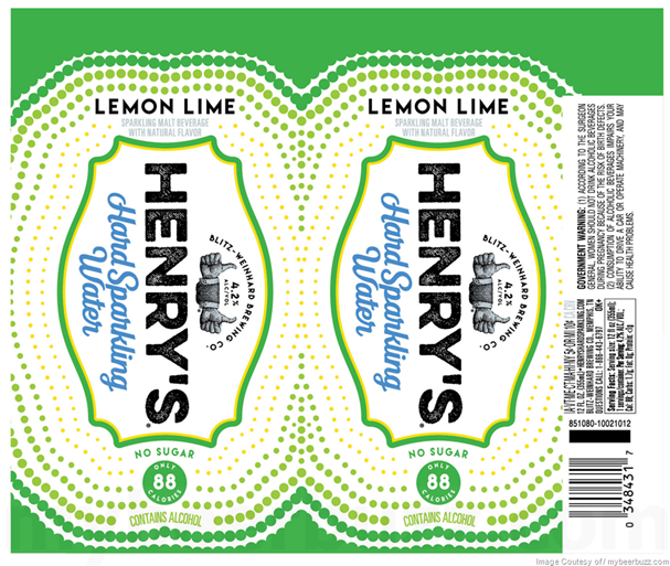 Henry's Hard Sparkling Water Has A Fresh New Look, No Sugar And Lower Calories