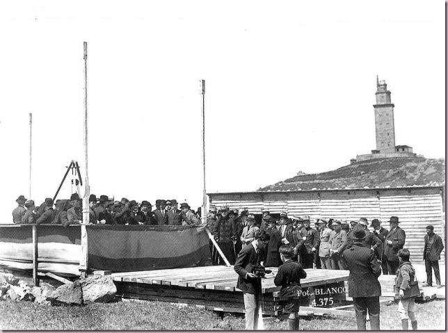 Ceremonia de colocación de la primera piedra de la Prisión Provincial de Coruña. 1925