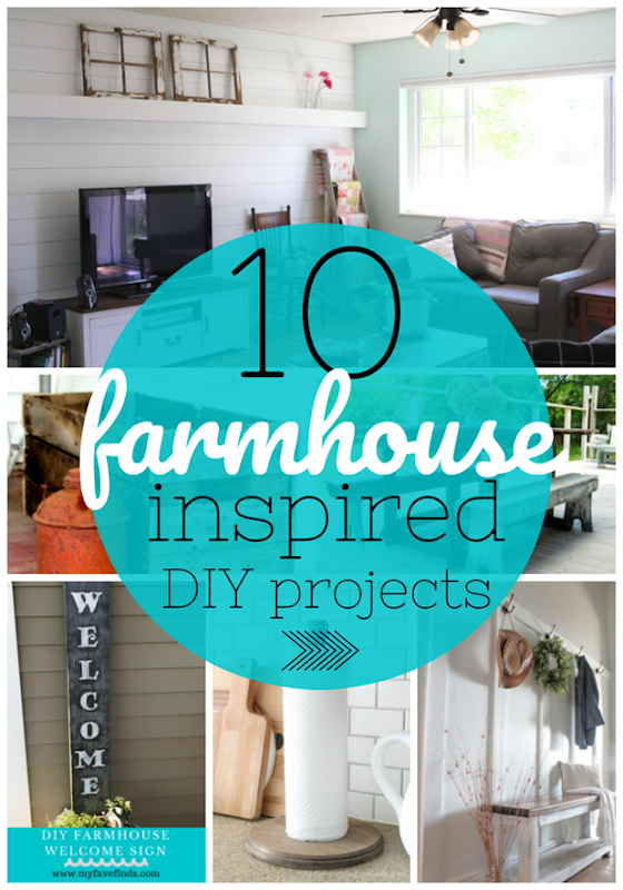 10 Farmhouse Inspired DIY Projects #DIY #farmhouse #forthehome