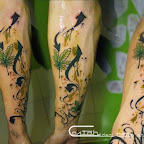 arm cannabis green - Flower Tattoos