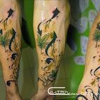 arm cannabis green - Flower Tattoos