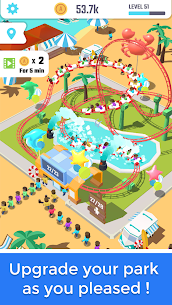 Idle Roller Coaster MOD APK (Unlimited Money) 2