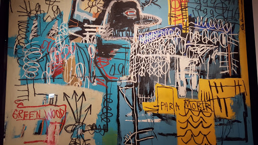 Bird On Money. Jean-Michel Basquiat, 1981, acrylic and oil on canvas. From Love, Change, and the Expression of Thought: 30 Americans at the Detroit Institute of Arts