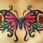 pink butterfly - Lower Back Tattoos Designs
