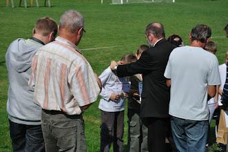 """Photo: Laureaci w kategorii wiekowej """"dzieci starsze"""" w konkurencji Ł-CD. Mistrzostwa Małopolski Dzieci i Młodzików 2011 (Dobczyce, 16.08.2011)"""