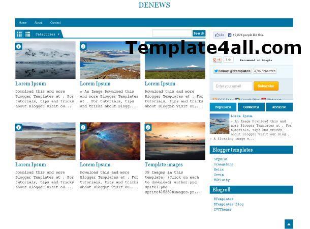 Free Blogger Blue Magazine Web2.0 Template