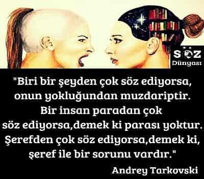 Andrey Tarkovski Sözleri