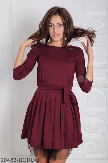 f175654873d Женское платье Lablis (20483-BORDO) - VK-Podium