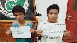 Sedang Transaksi Narkoba Dilapangan Futsal, Dua Pemuda Sumay Dibekuk Satresnarkoba Polres Tebo