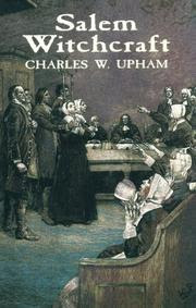 Cover of Charles Wentworth Upham's Book Salem Witchcraft With an Account of Salem Village