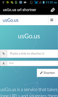 usGo.us url shortner- screenshot thumbnail