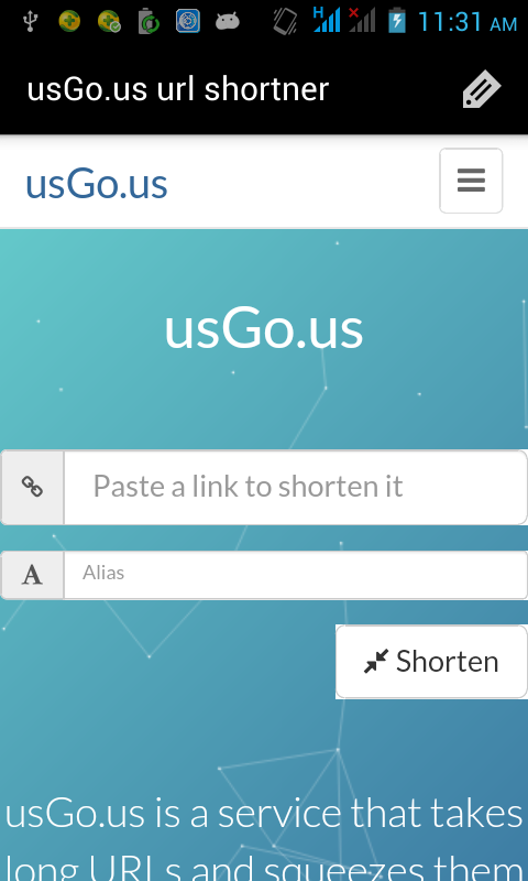 usGo.us url shortner- screenshot