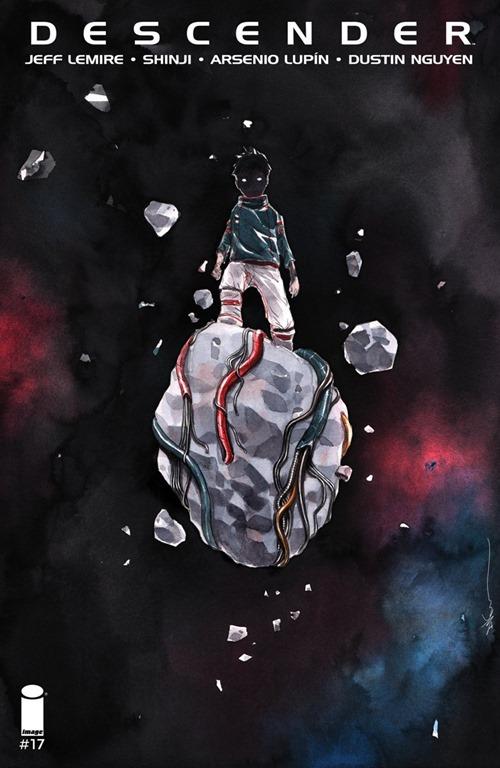 """Actualización 20/09/2017: Hoy les traemos Descender #17 al #21: """"Orbitales mecánicas"""", todo un arco argumental completo, 5 números en un único archivo, todo enteramente traducido por Shinji y maquetado por Arsenio Lupín para la alianza entre las comunidades Prix Cómics, How To Arsenio Lupín, La Mansión del C.R.G. y Outsiders... esperamos que lo disfruten."""