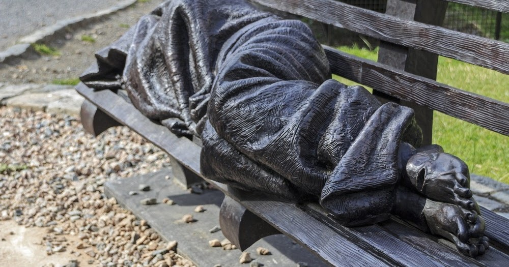 The Homeless Jesus Sculpture Amusing Planet