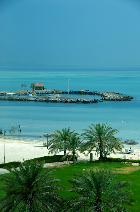 View from Danat Jebel Dhanna Beach Resort window