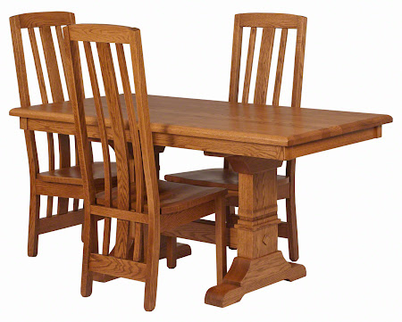 "60"" x 32"" Tuscany Dining Table in Medium Oak and Tuscany Chairs"
