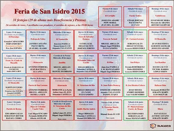 Presentados los carteles de la Feria de San Isidro 2015