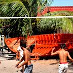 Mecz siatkówki plażowej w wydaniu kambodżańskim
