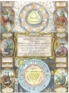 Engraved Title Page Of Oswald Croll Basilica Chymica 1609, Alchemical And Hermetic Emblems 2
