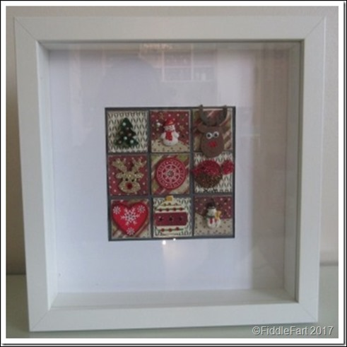 CHristmas Shadow Box Frame