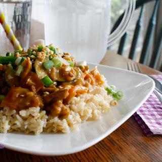 Vegan Kung Pao Chicken.