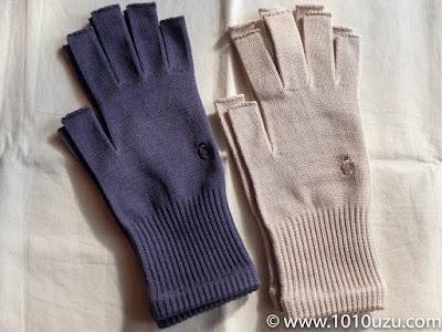 絹の指なし手袋