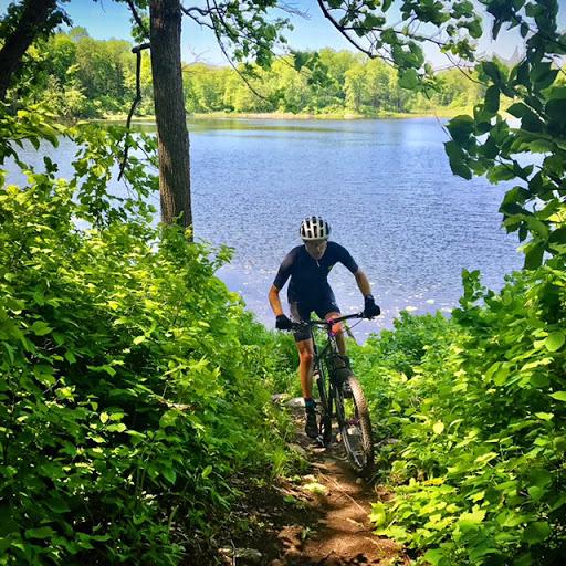 Peder Arneson lakeside singletrack Twin Lakes. June 2nd, 2017.