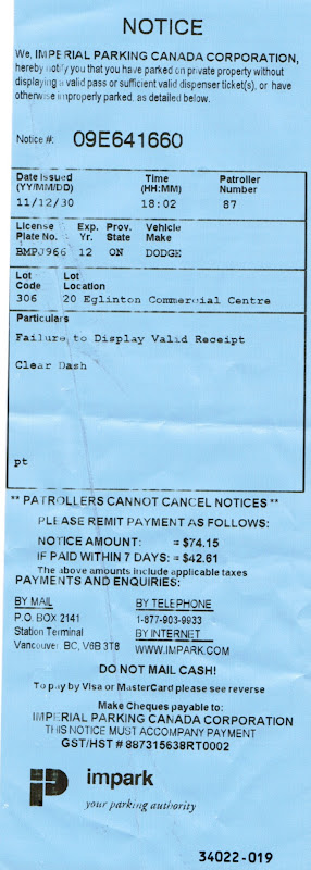 how to pay ontario parking ticket