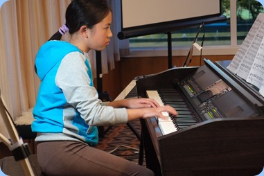 Phoebe Zhang played our Clavinova CVP-509 beautifully. Photo courtesy of Dennis Lyons.