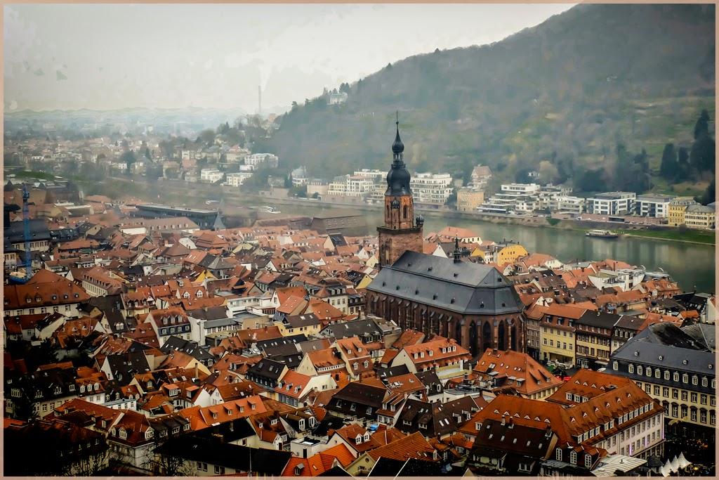 """Heidlegerg Rooftops"" by Jeanne Phelps - A General"