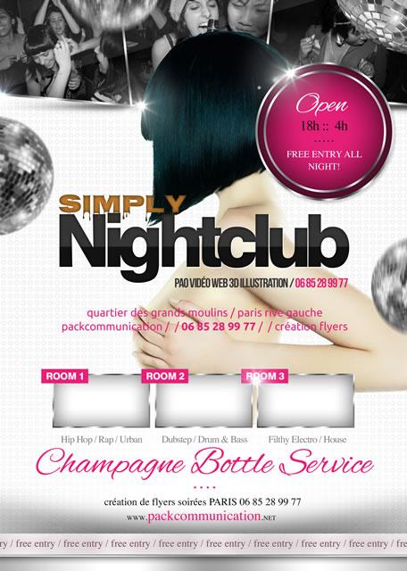 création flyer soirée thème Simply Nightclub 1b