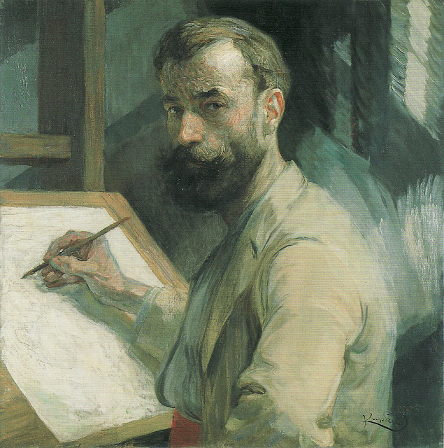 František Kupka - Self Portrait at the Easel, 1905-6