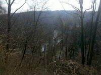 Looking down to the bend in the Octoraro River from the hike to the COPE area