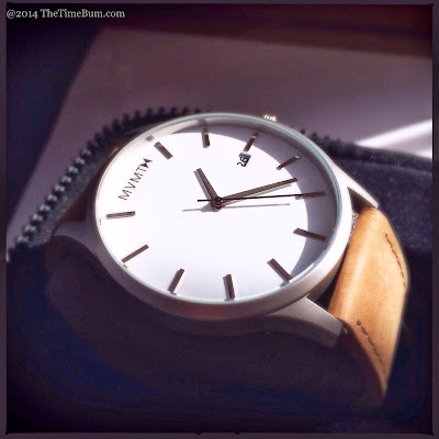 MVMT Watch white and tan