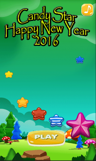 Candy Star Happy New Year 2016